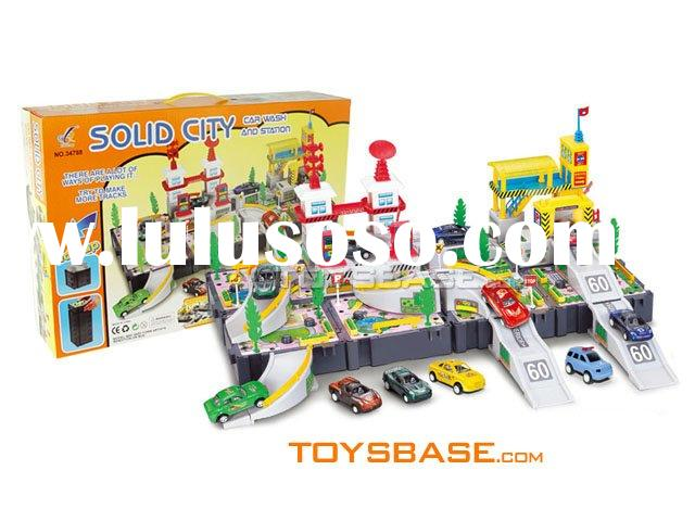 Plastic toy car wash & petrol station IZH97382