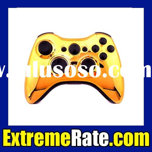 Polished Chrome Gold Replacement Shell For Xbox 360 Wireless Controller