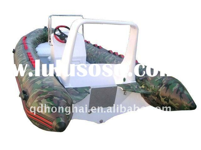 RIB-520 boat used color camo CE sports yacht inflatable