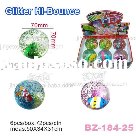 Sell Glitter Bouncing Water Ball with Floating Fish