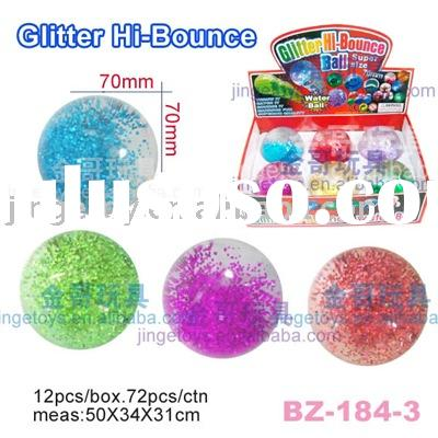 Sell glitter crystal bouncing ball/hi bouncy water ball
