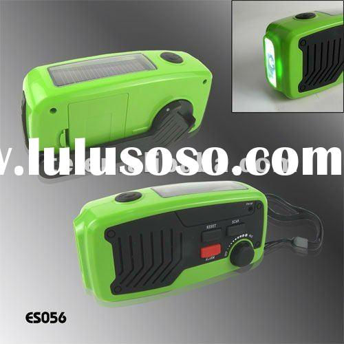 Solar Dynamo Emergency LED Flashlight Torch w/ FM Radio & Phone Charger