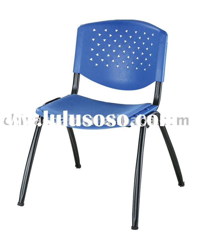 Stackable plastic university/college classroom desk chairs with cushion
