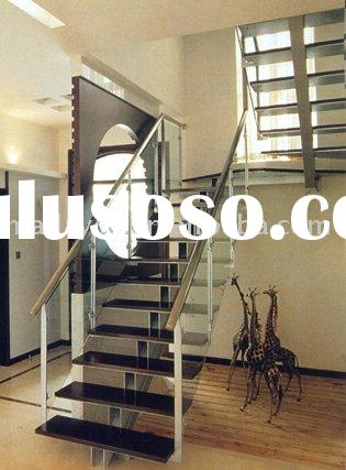 Steel Staircase with glass railing