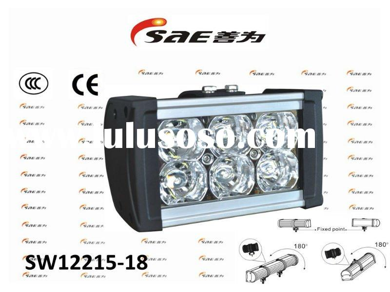 Sunway Waterproof Die cast aluminum Car LED light bar/LED work light 18W for off-road/ATV/Mining