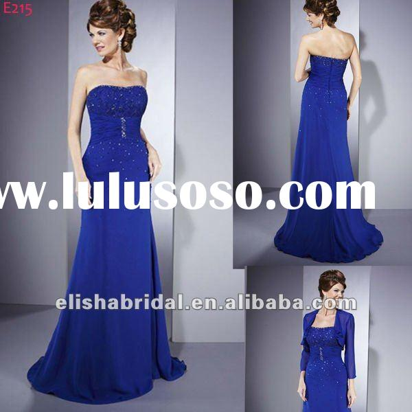 Sweetheart Beaded Empire Bodice Floor length Royal Blue Mother Of The Bride Dresses