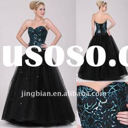 Sweetheart gala ball gown decorated with lace and sequins 2012 Long Lady Evening Dresses ED337