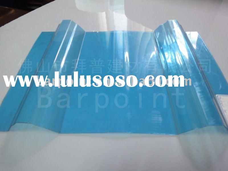 Transparent colored corrugated plastic roofing sheet