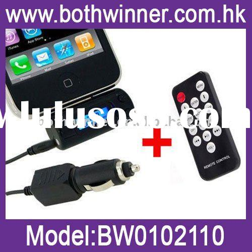 Wireless FM Transmitter with Remote Control For iPhone 4 & iPod