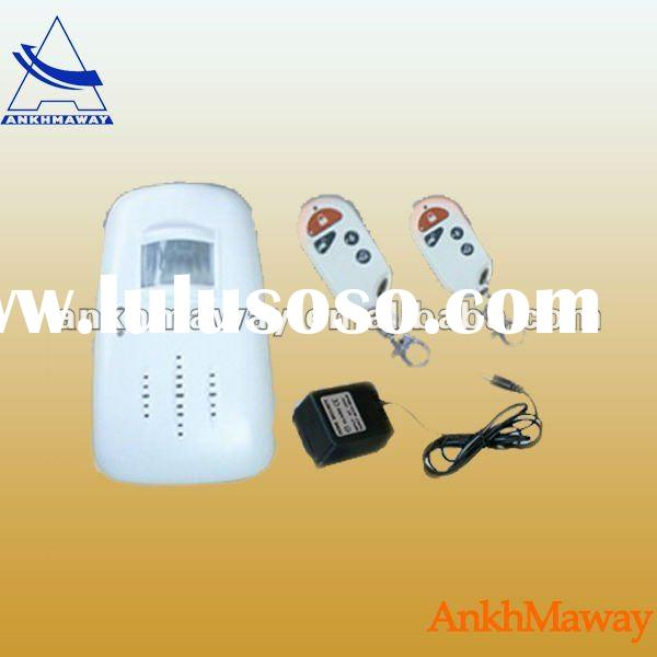 Wireless PIR sensor alarm with remote control