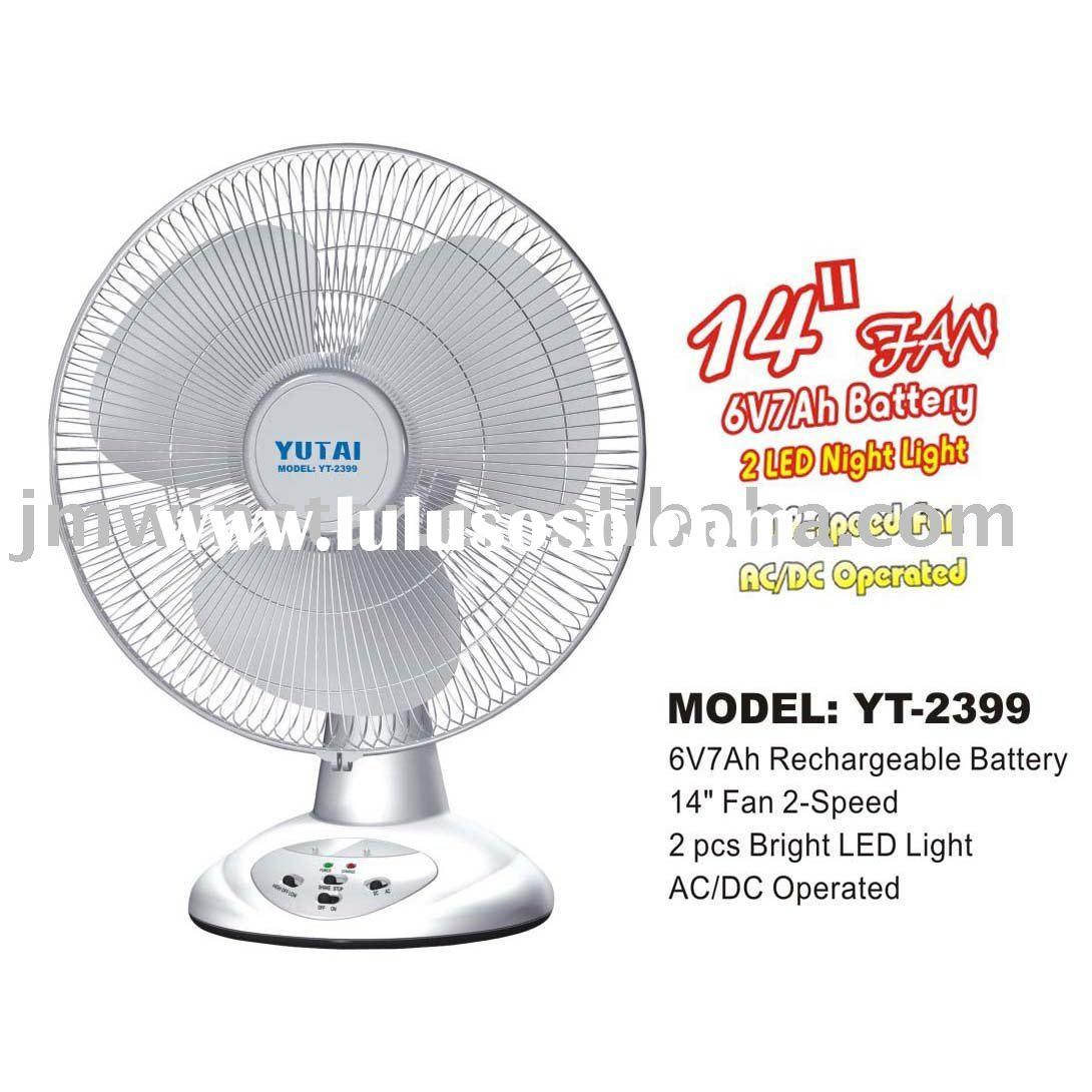 "YT-2399 14"" ELECTRIC FAN & DESK FAN & RECHARGEABLE FAN"