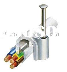 """A"" Plastic cable clips (Plastic nail cable clips)"