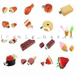 #BEST#Special Customized Bread,fruit,cartoon,biscuit,ice cream,chocolate food usb/capacity(256MB-32G