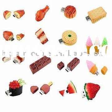 #PROMOTION#Special Customized Bread,fruit,cartoon,biscuit,ice cream,chocolate food usb/capacity(256M