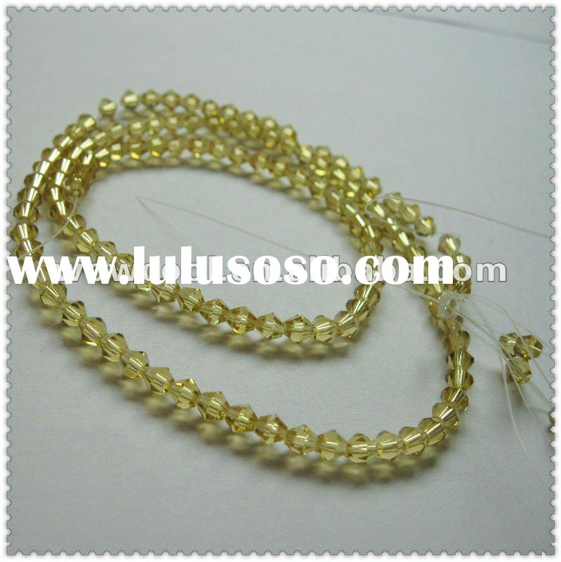 beautiful faceted glass beads string