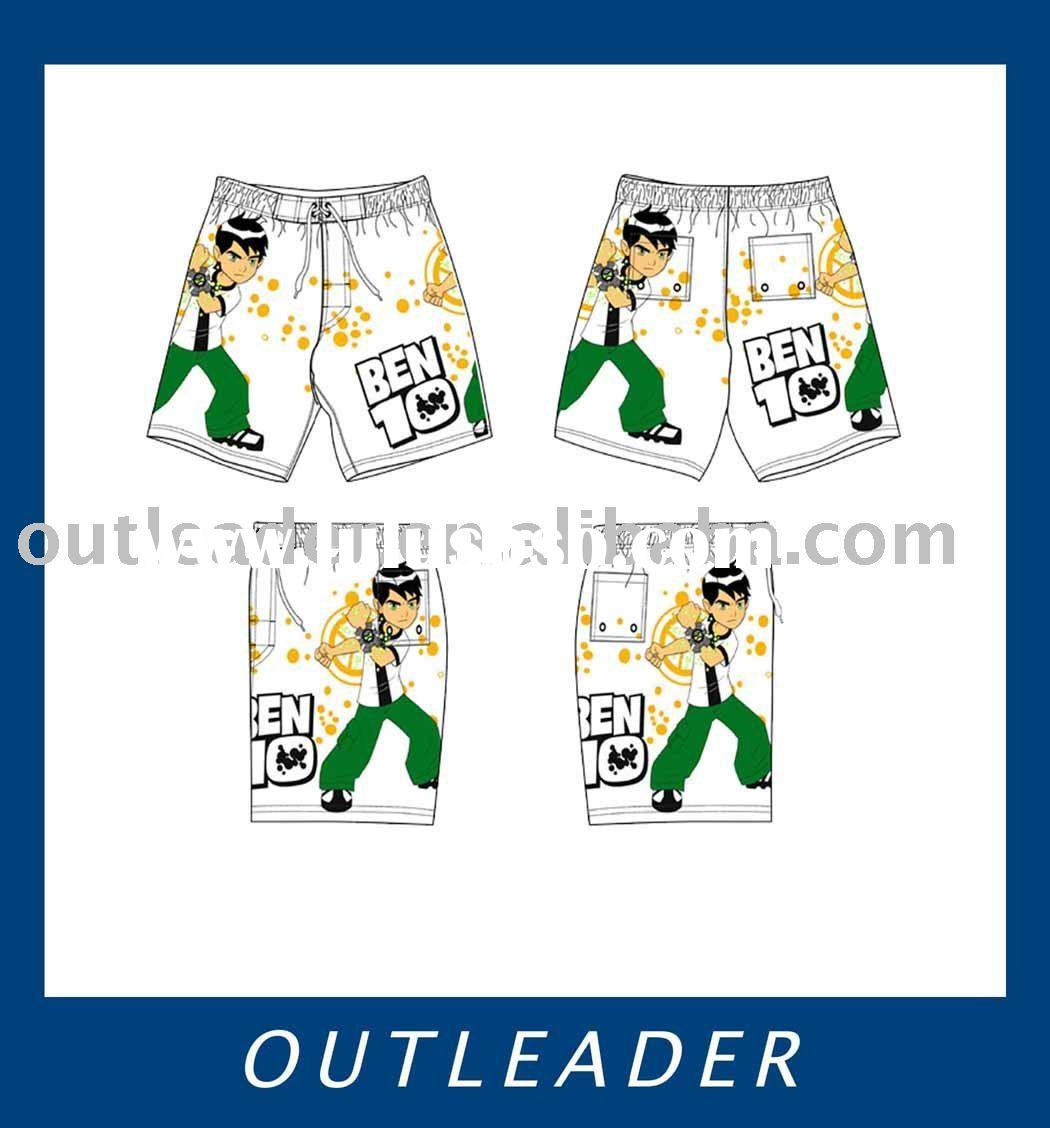 ben 10 clothing,boys beach pants