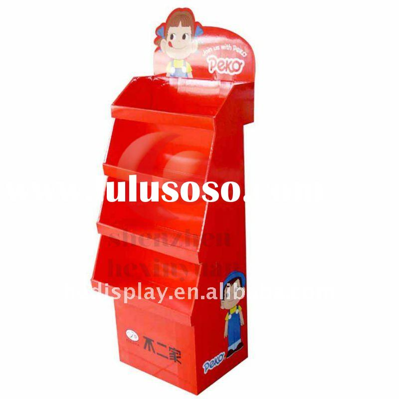 cardboard display,corrugated display stand,paper display rack