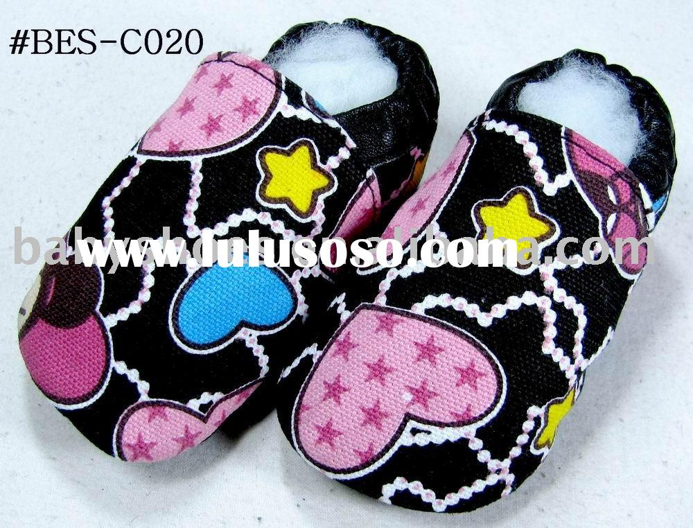 colorful heart soft sole canvas baby shoes