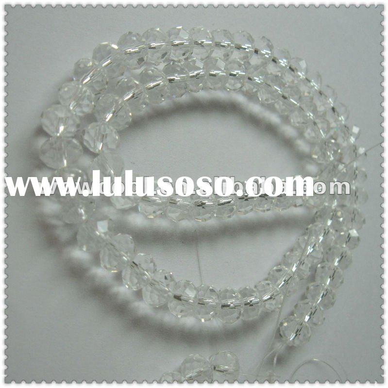 crystal faceted glass beads string