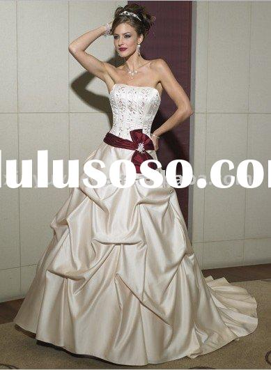 cute ribbon ball gown style wedding dress MA350