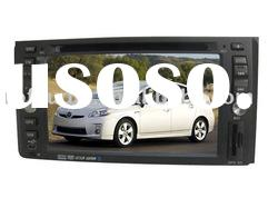 double din auto dvd gps navigation with bluetooth ipod digital panel for toyota vios hilux landcruis
