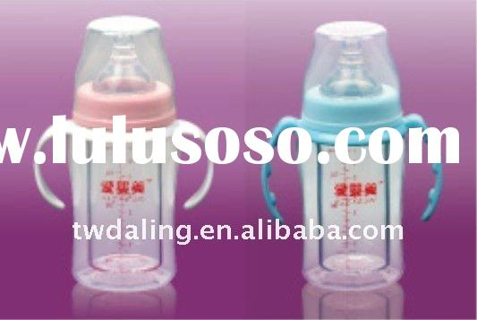 double layer glass feeding bottle