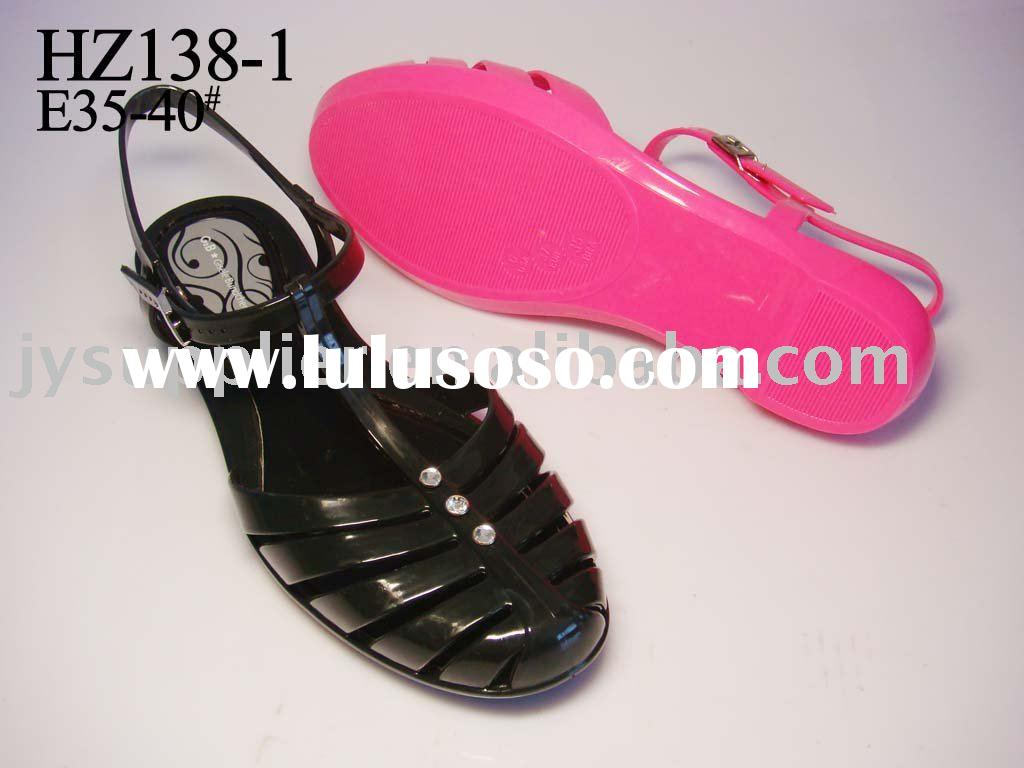 90'S GLAM Women's Jelly Sandals SILVER