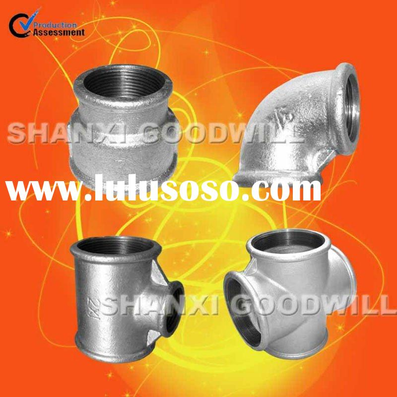 galv malleable iron pipe fittings beaded