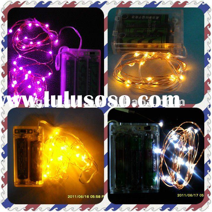 led battery operated copper string Christmas light with timer