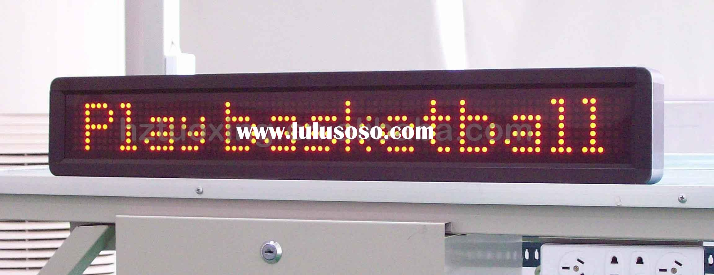led text moving display, message moving display, single line displays