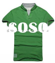 men`s fashion 100% cotton t-shirt,polo tshirt , plain shirt,casual shirt with short sleeve