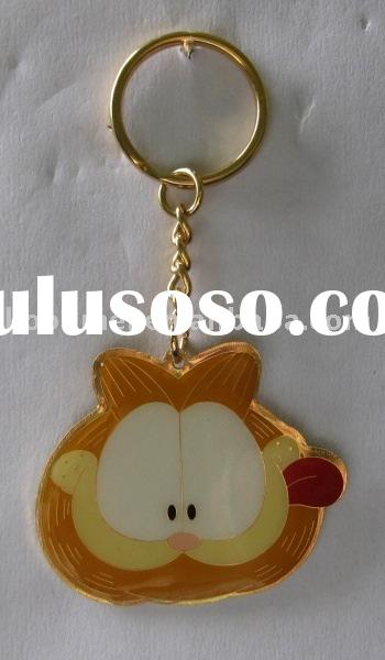 metal key chain cartoon key chain,Garfield key chain
