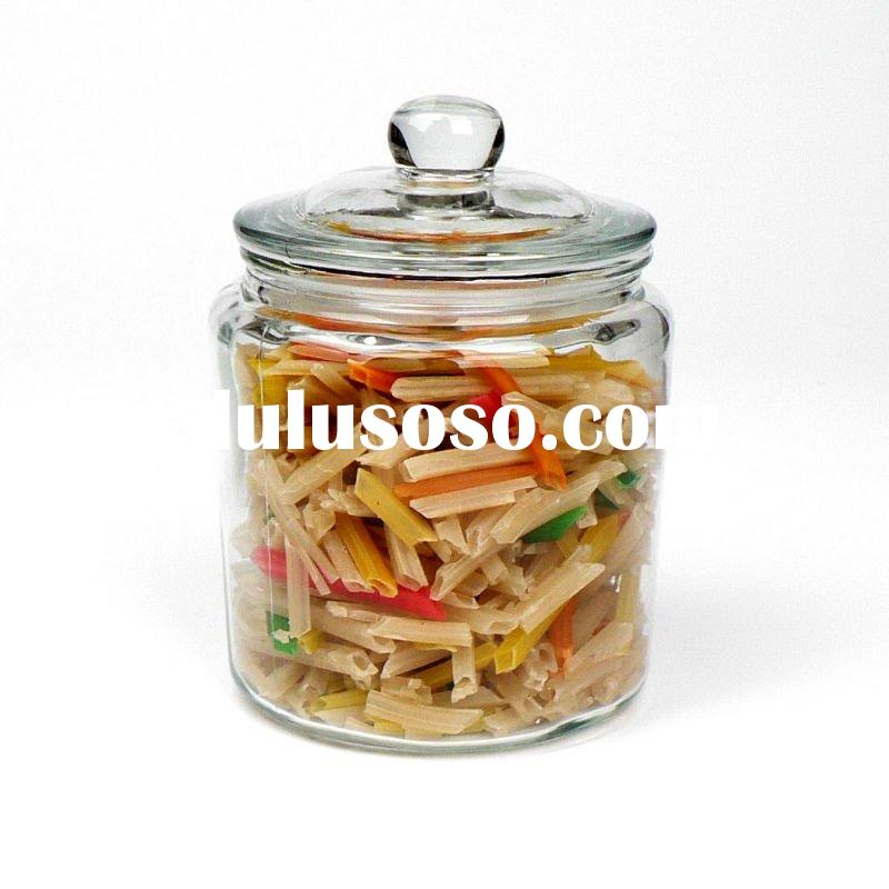multi-purpose clear glass jars and lids
