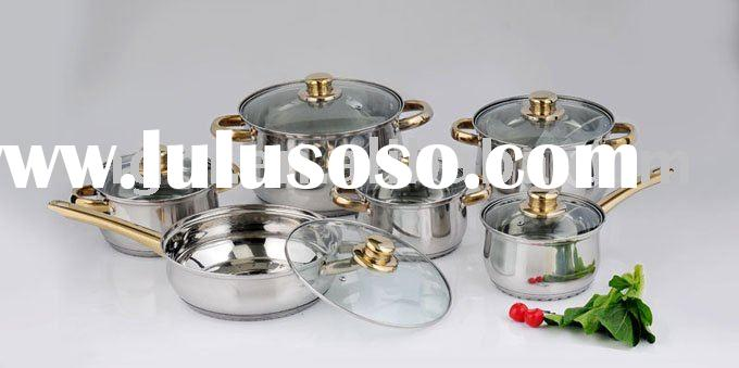 new 12 pcs Stainless Steel Cookware Set
