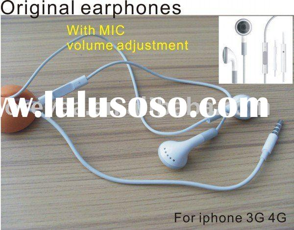 original Earphones Headphones For iPhone 3GS iPhone 4 4G iPod with Remote and Mic Volume Control