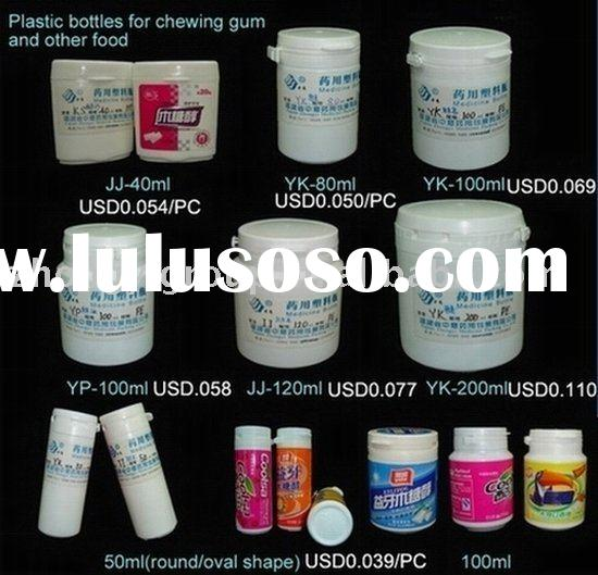 plastic candy jar,plastic chewing gum tube,plastic candy tube,plastic food packaging