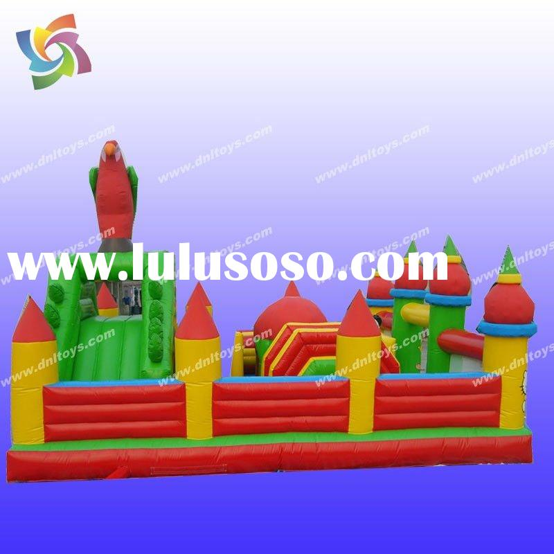 popular inflatable farm bouncer (with castle and tower)