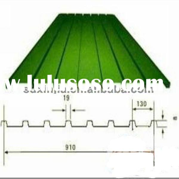 prepainted galvanized corrugated roofing sheet;factory