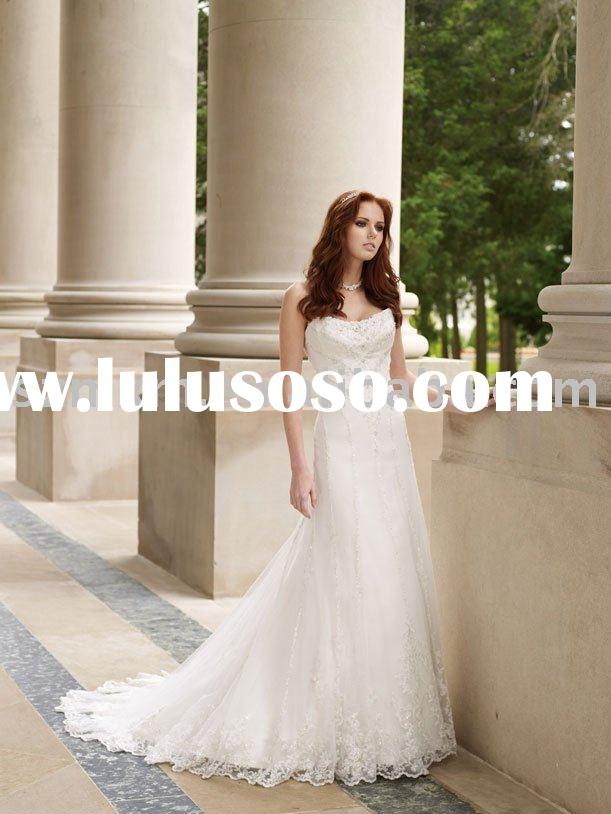 purely white lace wedding dress
