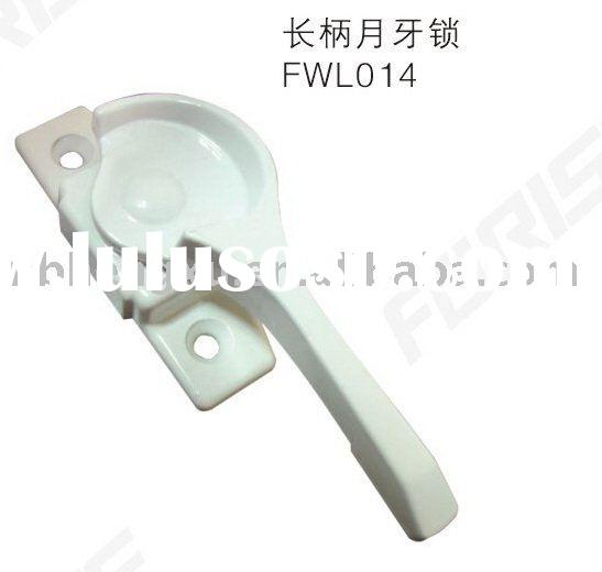 pvc window hardware long moonshape window lock FWL014