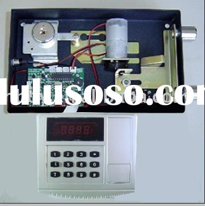 safe lock Motor locks door password lock a display to show what numbers you have punched in.