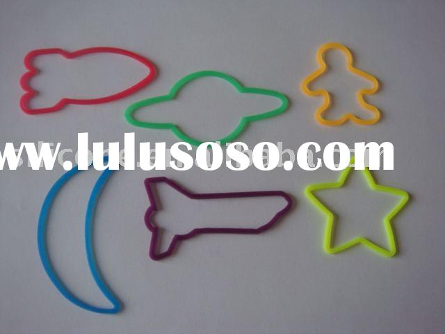 space shaped silicone rubber bands