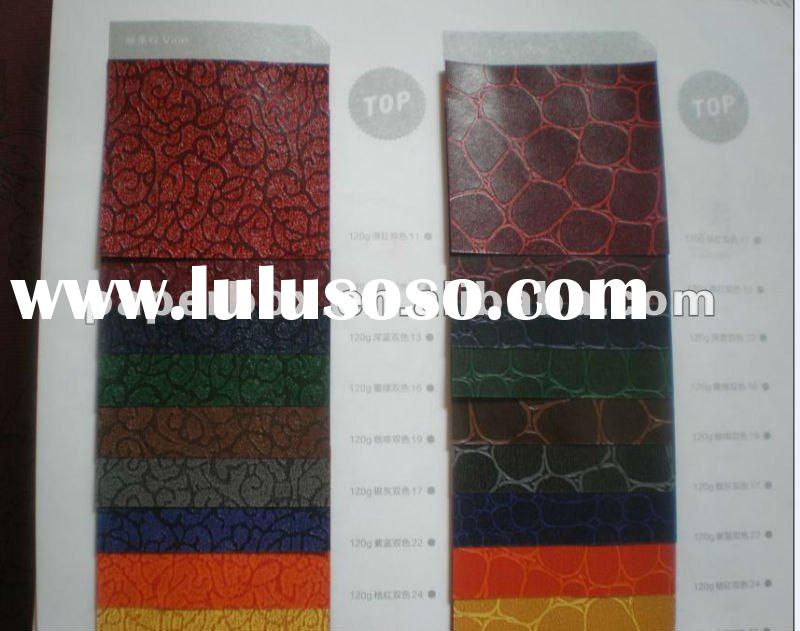 special texture leather paper for gift box, cards, bags, tube