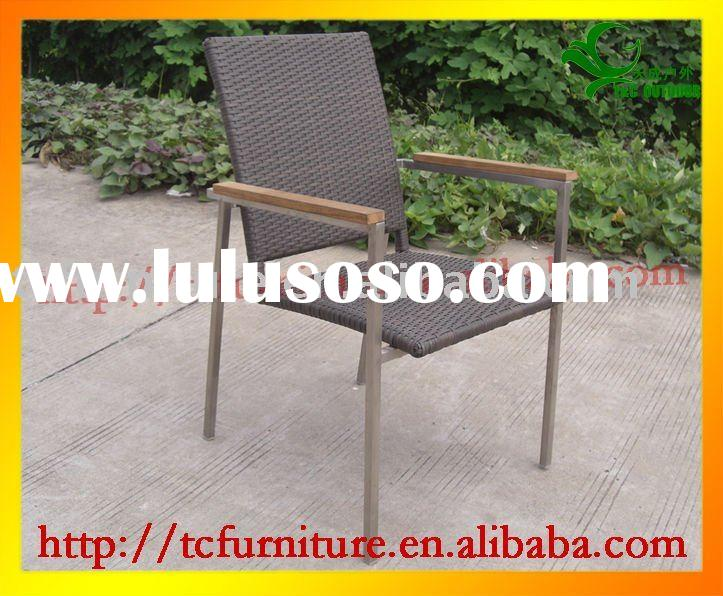 stainless leisure outdoor steel rattan chair TC3087