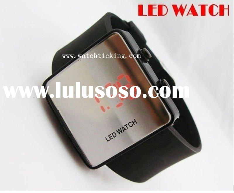wholesale! NEW Fashion Boy Girls ODM jelly Watch, ODM Mirror LED watches Digital watches