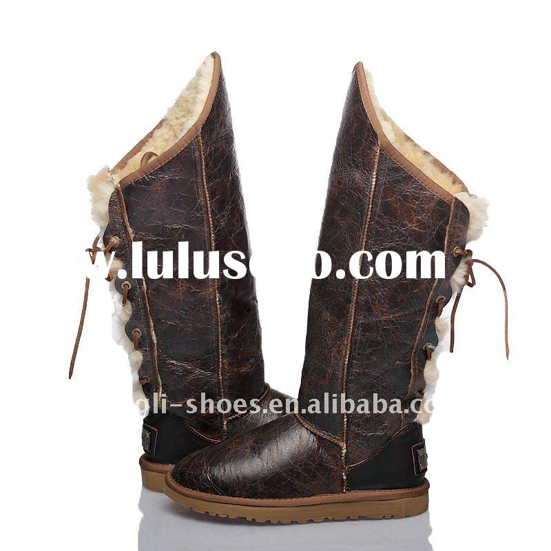 2011 new design top quality snow boots with back shoelace