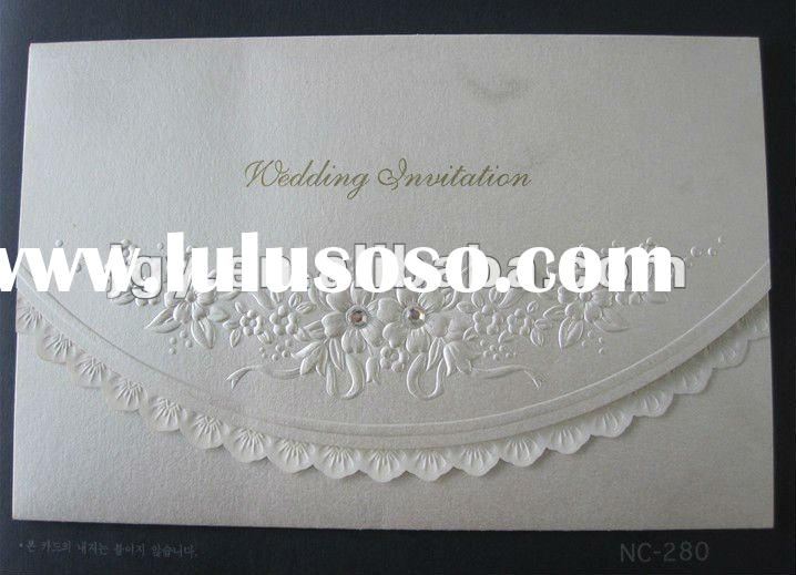 2012 beautiful gold or sliver printing Wedding Invitation paper Cards