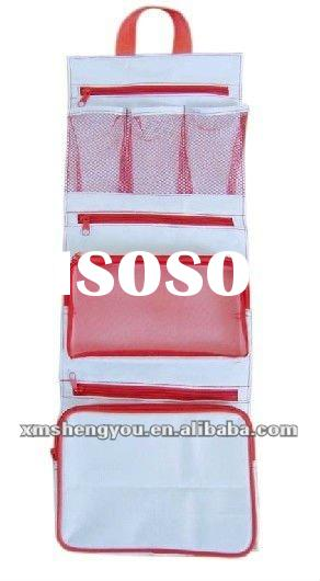 2012 hot sale Foldable Hanging Toiletry Bag/comestic bag/travel wash bag with simple design