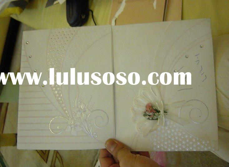 2012 top quality wedding Invitation paper cards factory