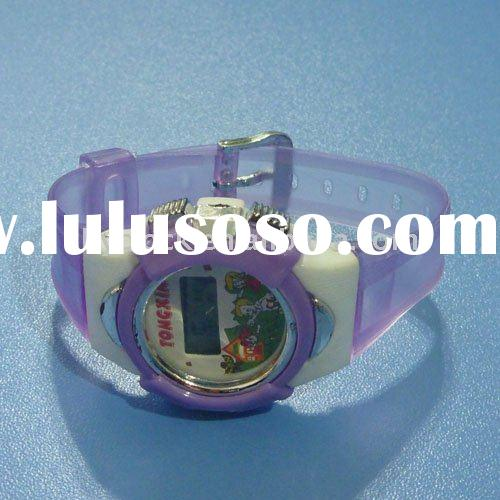 2012 wholesale plastic LCD watch for kids